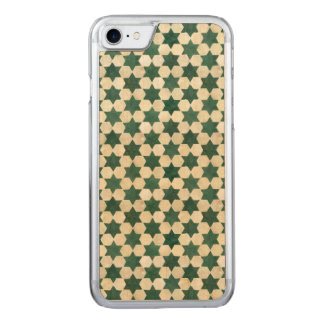 Green Moroccan Star Pattern Carved iPhone 8/7 Case