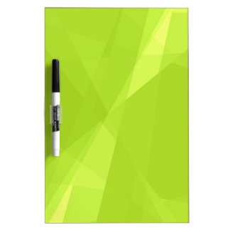 Green Mosaic Abstract Art Modern Geometric Pattern Dry Erase Board