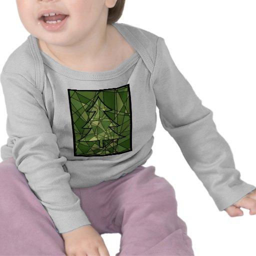 Green Mosaic Christmas Tree Tshirts
