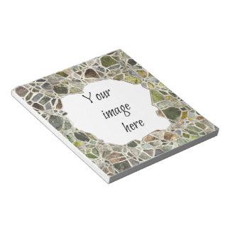 Green Mosaic Frame Notepad