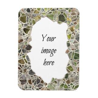 Green Mosaic Frame Vinyl Magnet