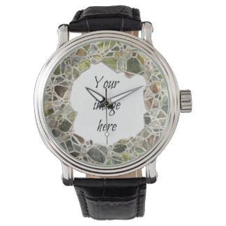Green Mosaic Frame Watch
