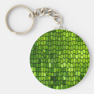 Green Mosaic Keychains