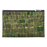 Green mosaic modern pattern travel accessory bags