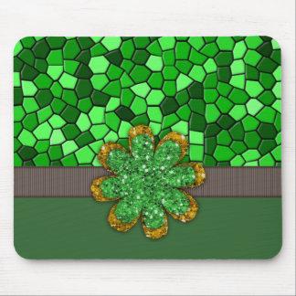 Green Mosaic Mouse Pad