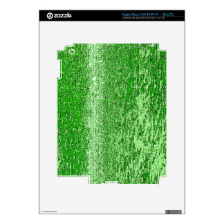 Green mosaic pattern decals for iPad 3