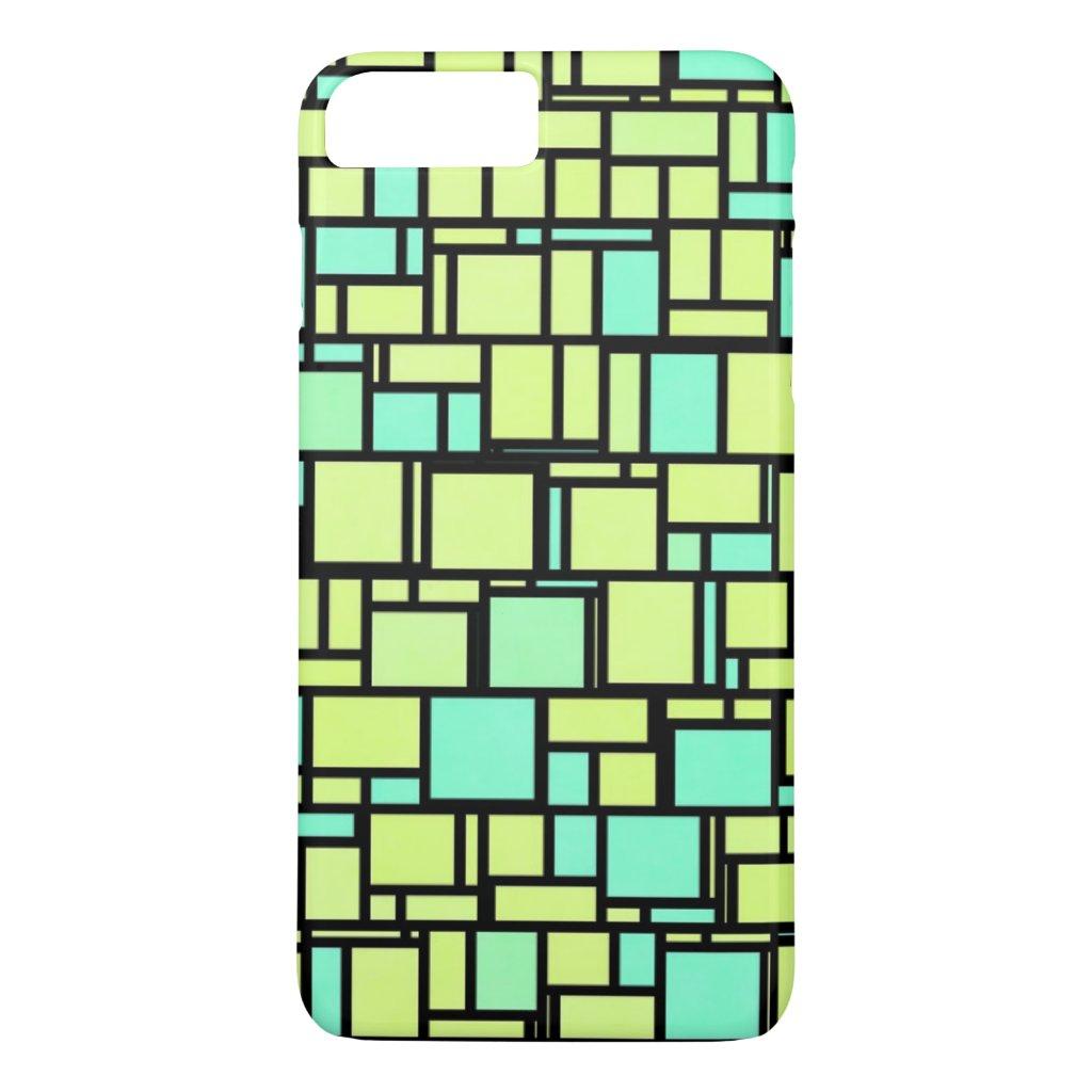 Green Mosaic Tiles iPhone 7 Plus Case