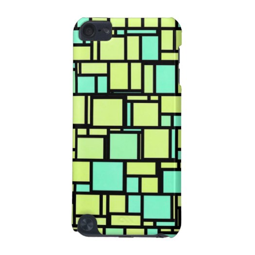 Green Mosaic Tiles iPod Touch 5G Covers