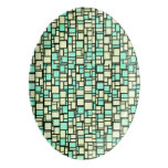 Green Mosaic Tiles Porcelain Serving Platter