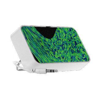 green mosaic  wawe portable speaker