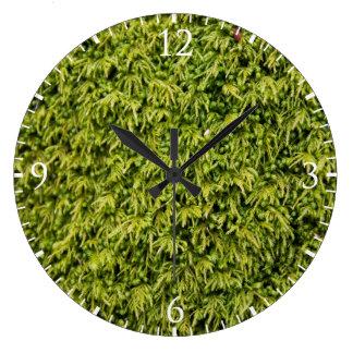Green Moss Large Clock