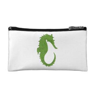 Green Moss Seahorse Cosmetic Bag