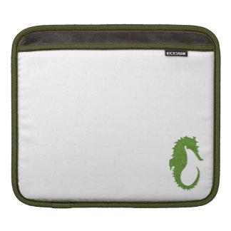 Green Moss Seahorse iPad Sleeve