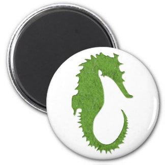 Green Moss Seahorse Magnet