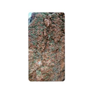 Green Mossy Rock Address Label