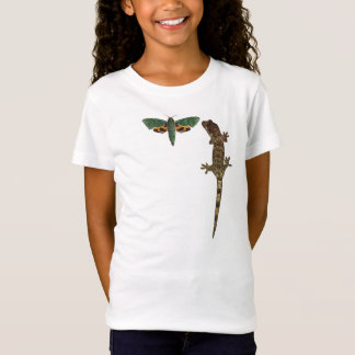 Green moth and Floss Mossy gecko child's t-shirt