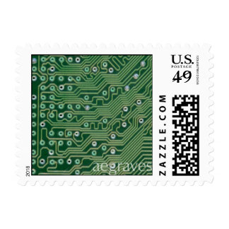 Green Motherboard First Class stamp
