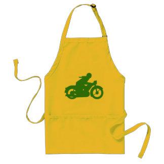 Green Motorbiker Sign Adult Apron