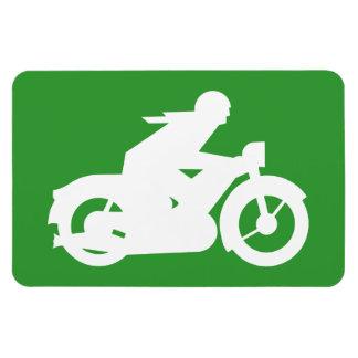 Green Motorbiker Sign Flexible Magnet