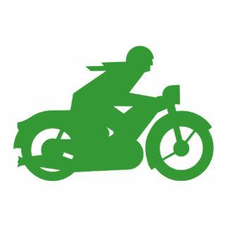 Green Motorbiker Sign Statuette