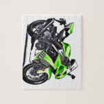 green, motorcycle, tires, bright