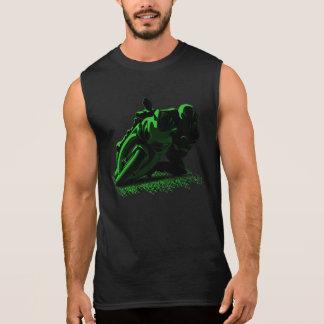 Green Motorcycle Racing biker Sleeveless Shirt