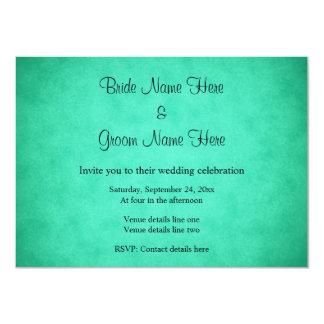 Green Mottled Pattern Wedding Card