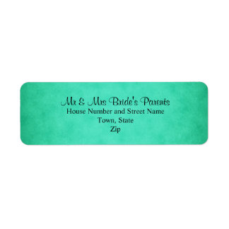 Green Mottled Pattern Wedding Custom Return Address Label