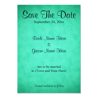Green Mottled Pattern Wedding Save The Date Card
