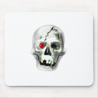 green mould on skull mouse pad