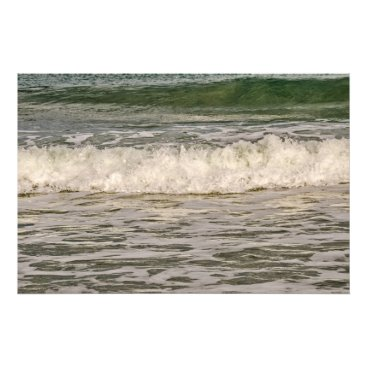 Art Themed Green Mound Pushing the White Waves Photo Print