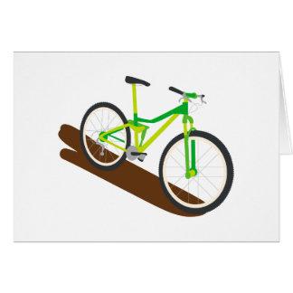 Green Mountain Bike Greeting Card