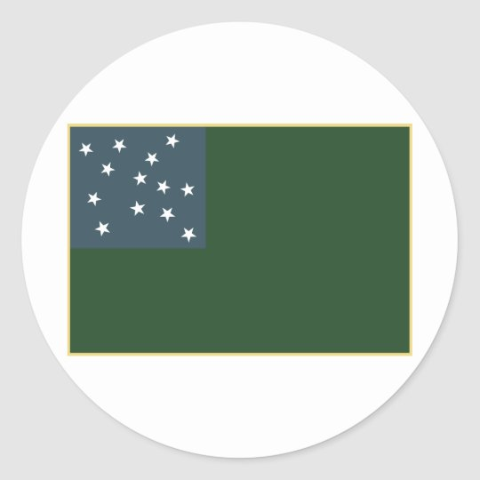 Green Mountain Boys and the Vermont Republic Flag Classic Round Sticker