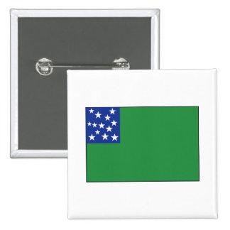 Green Mountain Boys Flag Pinback Button