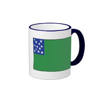 Green Mountain Boys Flag Ringer Coffee Mug