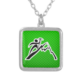 Green Mountain Climbing Personalized Necklace