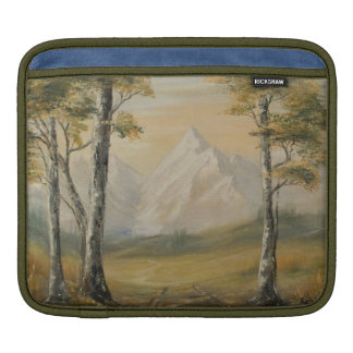 Green Mountain Meadow Landscape iPad Sleeve