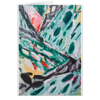 Green Mountain Rapids (abstract landscape) Card