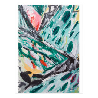 Green Mountain Rapids (abstract landscape) Postcard