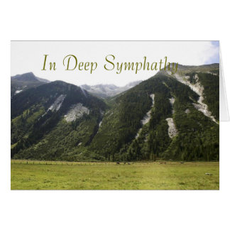Green Mountains Deep Symphathy Card
