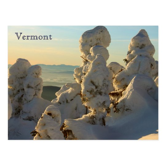 Green Mountains Vermont in Winter Postcard