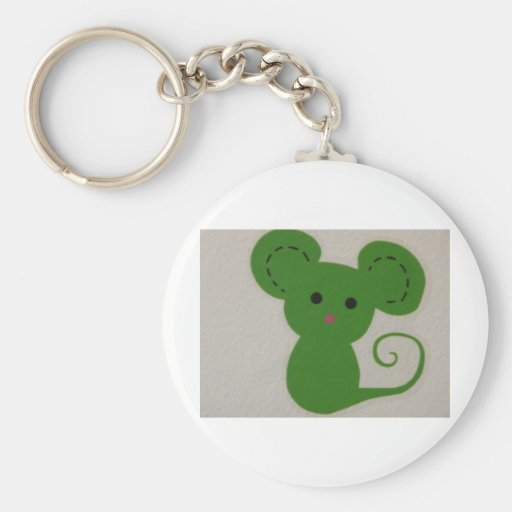 green mouse keychain