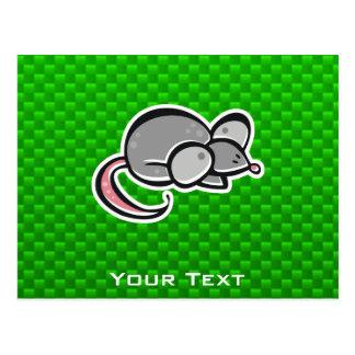 Green Mouse Postcard
