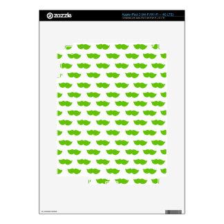 Green Moustaches iPad 3 Skin