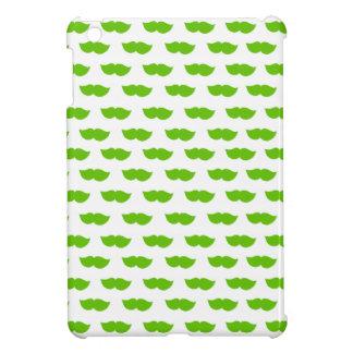 Green Moustaches iPad Mini Cover