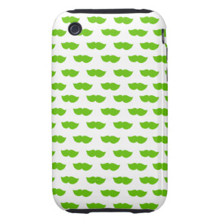 Green Moustaches iPhone 3 Tough Cover