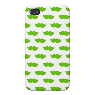 Green Moustaches Case For iPhone 4