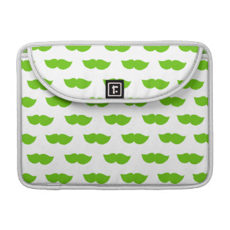 Green Moustaches Sleeve For MacBook Pro