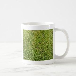 green classic white coffee mug