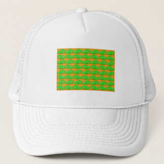 Green Multi-Frogs On Orange Trucker Hat